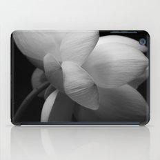 Black & While Lotus II iPad Case