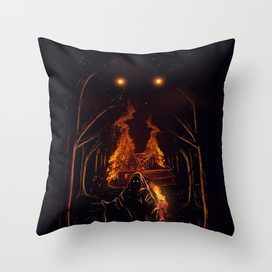 The Arsonist Throw Pillow