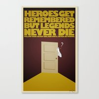 Heroes and Legends Canvas Print
