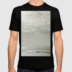 White Sunset SMALL Black Mens Fitted Tee