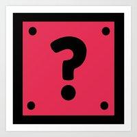 Video Game Mystery Box Art Print