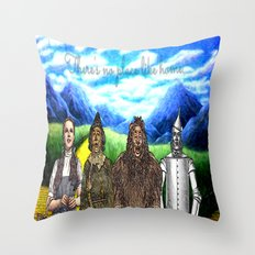 No Place Like Home Wizard Oz Art Throw Pillow