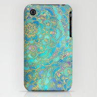 Sapphire & Jade Stained … iPhone (3g, 3gs) Slim Case