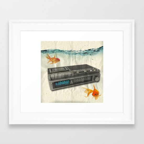 12.12.12 _ GAME OVER Framed Art Print