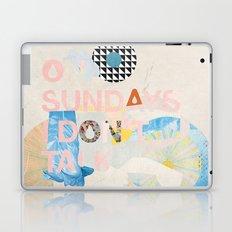 ON SUNDAYS I DON'T TALK Laptop & iPad Skin