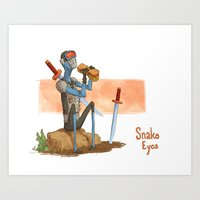 Snake Eyes Art Print