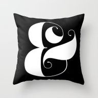 Throw Pillow featuring Inverse Ampersand by Jude Landry