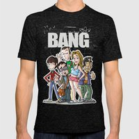 Bang! Mens Fitted Tee Tri-Black SMALL