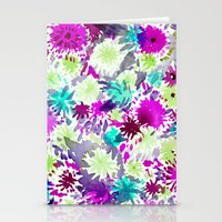 RACHEL ABSTRACT FLORAL Stationery Cards