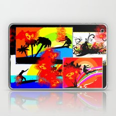 Posterized Surfing Collage Laptop & iPad Skin
