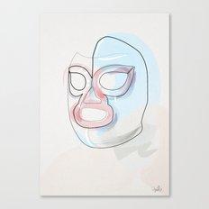 One Line Nacho Libre Mask Canvas Print