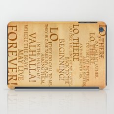 Viking Prayer iPad Case