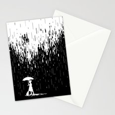 Pixel Rain Stationery Cards