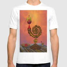 The Wizard's Table White Mens Fitted Tee SMALL