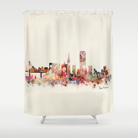 San Francisco city Shower Curtain