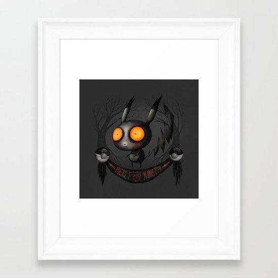 Pocket Monster #025 Framed Art Print