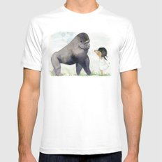 Hug me , Mr. Gorilla Mens Fitted Tee SMALL White