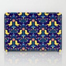 Folk Birds Blue iPad Case