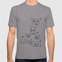 Cats Cat Mens Fitted Tee Athletic Grey SMALL