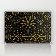 Merry Gold Stars And Sil… Laptop & iPad Skin