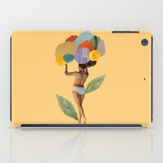 i walk out in the flowers and feel better iPad Case