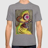 One Eyed Monster Mens Fitted Tee Tri-Grey SMALL