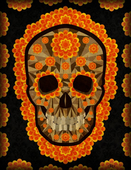 Day of the Dead Skull  Art Print
