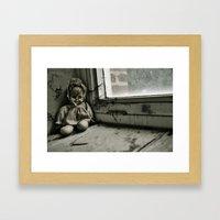 Crack Baby Framed Art Print