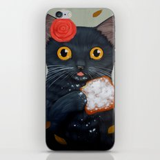 LADY CAT AND BEIGNET iPhone & iPod Skin