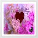 Happy Valentine`s Day Art Print