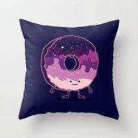 The Cosmic Donut Throw Pillow