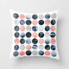 Pretty Dots Throw Pillow