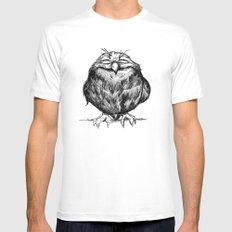 Owl Ball MEDIUM Mens Fitted Tee White