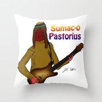 Sumac-o Pastorius Throw Pillow