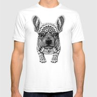 Frenchie Mens Fitted Tee White SMALL