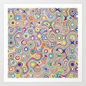 color forms Abstract  Art Print