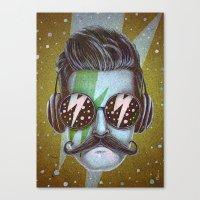 Dude (green) Canvas Print