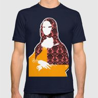 Mona Lisa SW+C X1 Mens Fitted Tee Navy SMALL