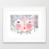 Forest In My Hair Framed Art Print