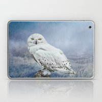 Snowy Owl In Mist Laptop & iPad Skin