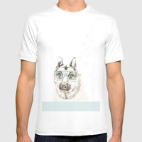 Diver Dog Mens Fitted Tee White SMALL