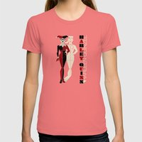 Harley Quinn Womens Fitted Tee Pomegranate SMALL