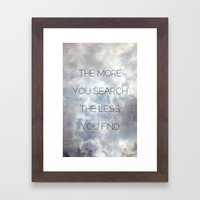 Search & Find Framed Art Print