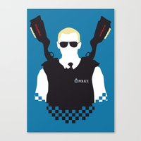 Here Come The Fuzz Canvas Print