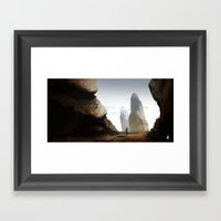 Landscape Experiment Framed Art Print
