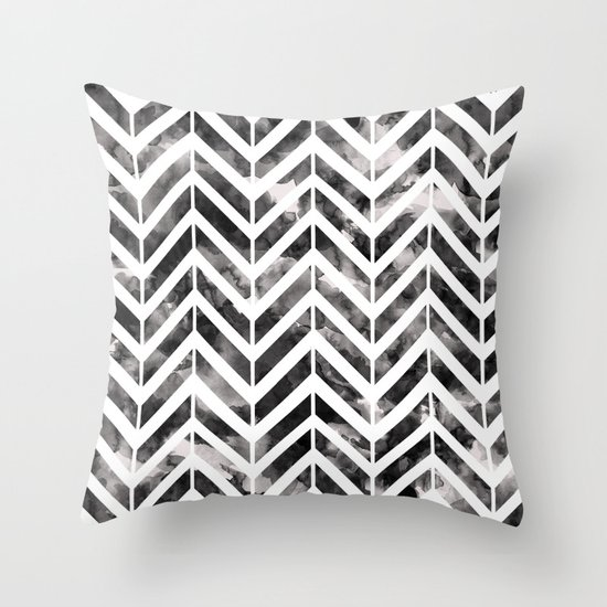 Brush Chevron Throw Pillow