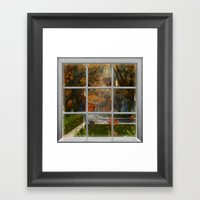 One Rainy Day In The Fal… Framed Art Print