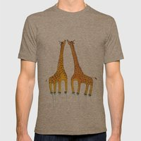 Unicorn Giraffes  Mens Fitted Tee Tri-Coffee SMALL