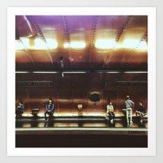 Arts et metiers metro Art Print