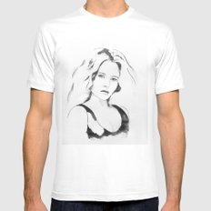 portret N89 White SMALL Mens Fitted Tee